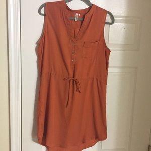 Dresses & Skirts - 🆕 Soft Orange Drawstring 👗 Dress